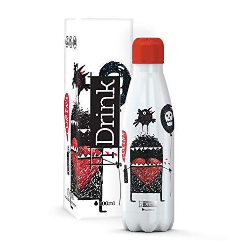 I-Drink - Trinkflasche 350/500/1000 ML Thermoflasche aus Stahl (500 ML, Monster)