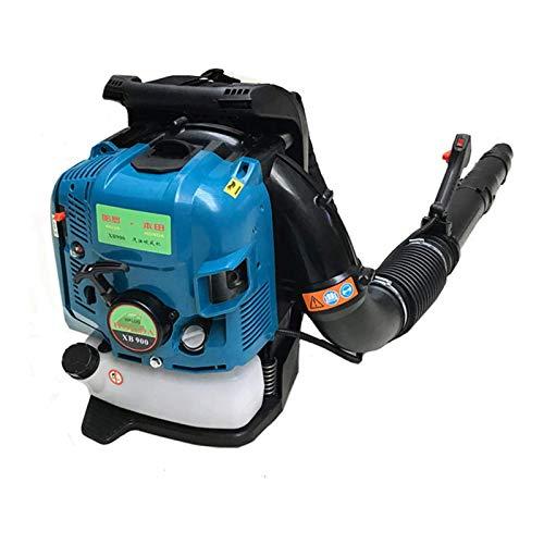 HYDDG Leichter 4-Takt-Benzingebläse, motorgasbetriebener Laubbläser für Rasenpflege, kabellos, variable Geschwindigkeit, Rucksack-Laubbläse