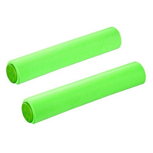 Supacaz Siliconez Grip VTT Adulte Mixte, Vert Fluo, 34mm
