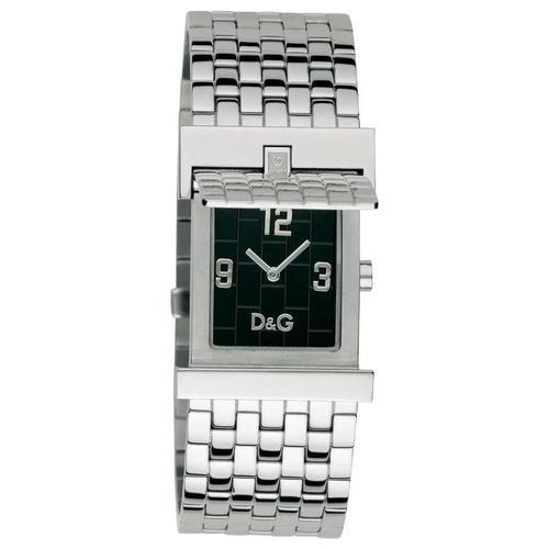 D&G Dolce&Gabbana Mick DW0028 - Reloj de caballero de cuarzo con correa de acero inoxidable plateada