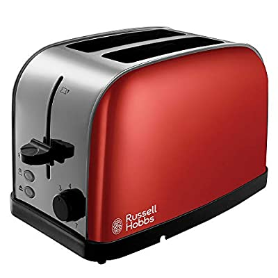 Russell Hobbs 18781 Dorchester 2-Slice Toaster, Red