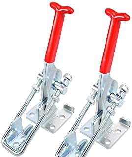 Abrazaderas de palanca tipo Latch 4pcs Juego de herramienta de mano sujeci/ón Capacidad 163 Kg//360lbs GH 40323 Abrazadera en forma de U cargas pesadas Barra cierre cierre r/ápido metal
