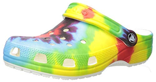 Crocs Kids' Classic Tie Dye Clog | Slip On Shoes for Boys and Girls , Multi, J4 US Big Kid