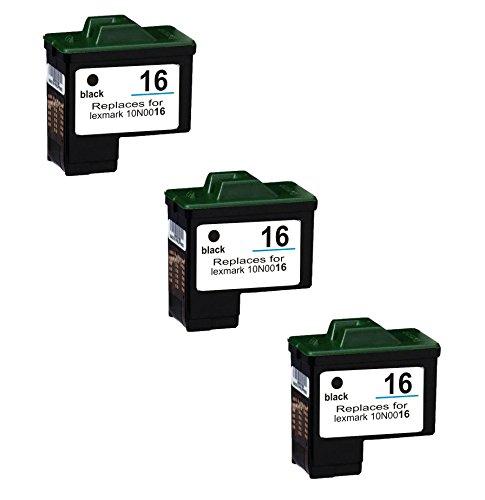 Prestige Cartridge Lexmark No. 16–Set di 4cartucce di inchiostro compatibile con Stampante Lexmark i3, X1100, X1110, X1130, X1140, X1150, X1155, X1160, X1170, X1180, X1185, X1190, X1240, X1250, X1270, X1290, X2230, X2240, X2250, X72, X74, X75, Z13, Z23, Z24, Z25, Z33, Z34, Z35, Z515, Z600, Z601, Z602, Z603, Z604, Z605, Z640, Z645, Compaq IJ650, IJ652