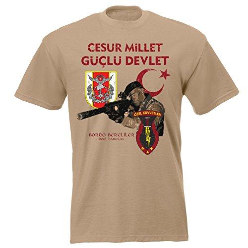 aprom Türkei Bordo Asker Bereliler T-Shirt xx 047 (S)