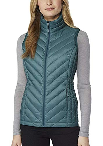 Womens Packable Vest, Cold Green, Medium