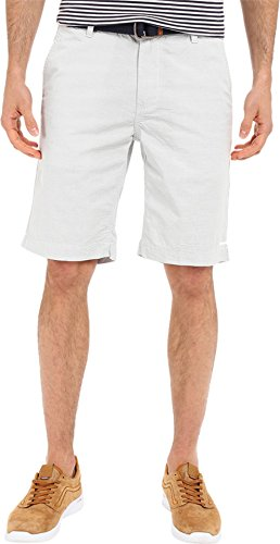 U.S. Polo Assn. Men's Horizontal Stripe Flat Front Belted Short, Antique/White, 40