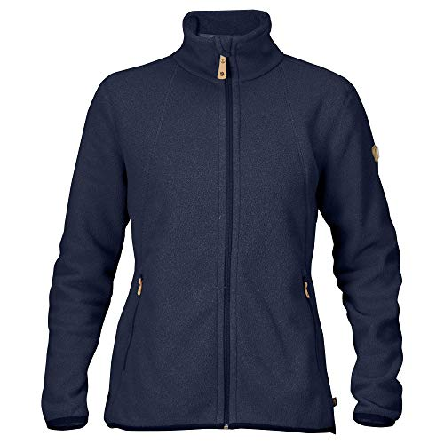 FJÄLLRÄVEN Damen Stina Fleecejacke, Dark Navy, M