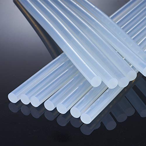 Hot Glue Sticks,100PCS, 0.28 x 7.87in, Transparent Hot Melt Glue Gun Sticks EVA Glue for Art Craft, Adhesive Repair Bonding DIY Craft Projects