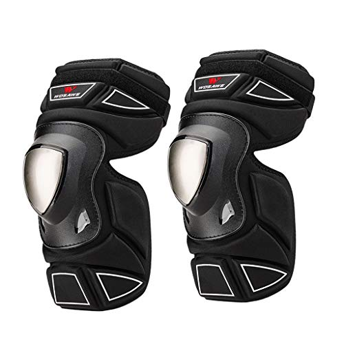freneci Motorbike Elbow Pad Stainless Steel Shell Skating Elbow Guard Supports Brace