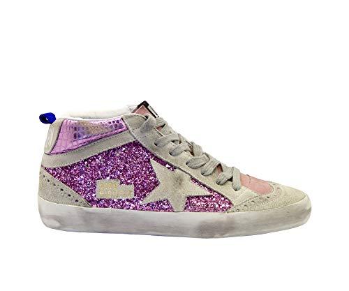 Golden Goose Sneakers Mid Star Glitter Pink, Mehrfarbig - Pink Glitter Cocco Ice Star - Größe: 34 EU