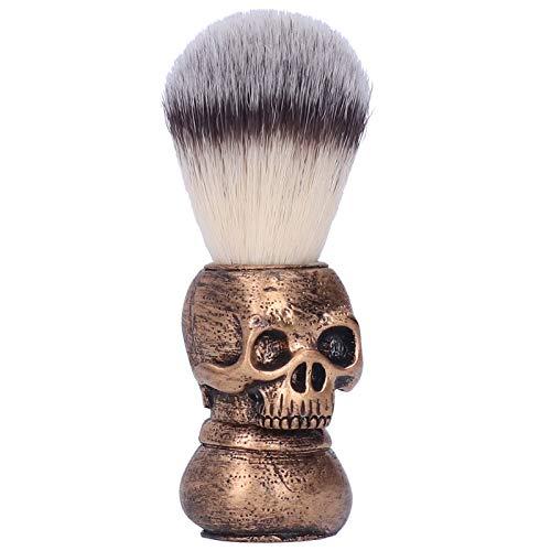 Cepillo de afeitar con espuma para afeitar Limpieza facial Brocha de afeitar para hombres Cepillo de barba ligero para uso en el salón para uso familiar y uso en viajes