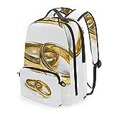 Montoj - Bolsa de viaje para anillos de boda dorados con bol