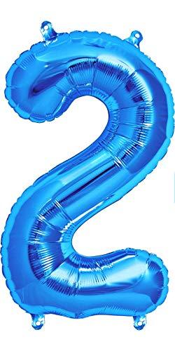 Dancing Queen Folienballon 2 Helium Ballons Geburtstag Luftballons Zahlen als Geburtstagsluftballons Zahlen Luftballon 2 blau Folien Ballon Geburtstag als Geburtstagsdeko cm groß XXL
