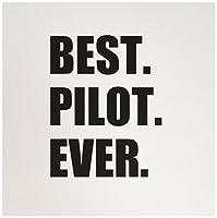 InspirationzStoreタイポグラフィ–BestパイロットEver、楽しい感謝のギフト、飛行機の才能Pilots–グリーティングカード Set of 6 Greeting Cards