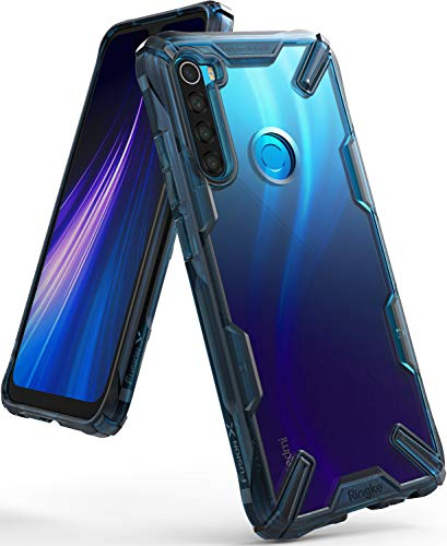 Ringke Fusion-X Compatible con Funda Xiaomi Redmi Note 8 (6,3 Pulgadas), Transparente Rigida Carcasa Parachoque TPU Resistente Impactos Funda Negra - Space Blue (Azul)