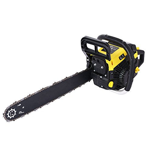 OppsDecor 20' 62CC Gas Chainsaw Power Chain Saw 2 Stroke Handed Petrol Gasoline Powered Chain Saw for Cutting Wood with Tool Kit