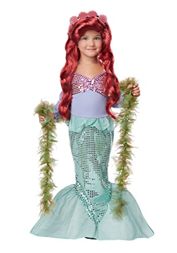 Lil' Mermaid Halloween Costume - Toddler Large Size 4-6