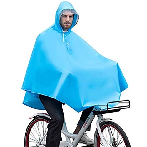 Abrigo Impermeable Al Aire Libre Impermeable Impermeable Impermeable Impermeable Poncho Fashion Fashion Bicycle Abrigos De Lluvia con Bolso Outdoors (Color : Blue, Size : One Size)