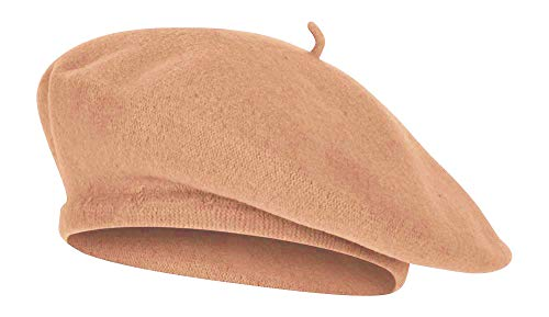 TOP HEADWEAR Wool Blend French Bohemian Beret, Tan