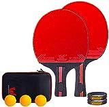 Conjunto de Tenis de Mesa Conjunto de Bola Pong portátil Mesa de Ping Pong Raqueta de Ping con 2 Raquetas 3 Bolas Gran Regalo for los niños Adultos Interior Juegos al Aire Libre Recto