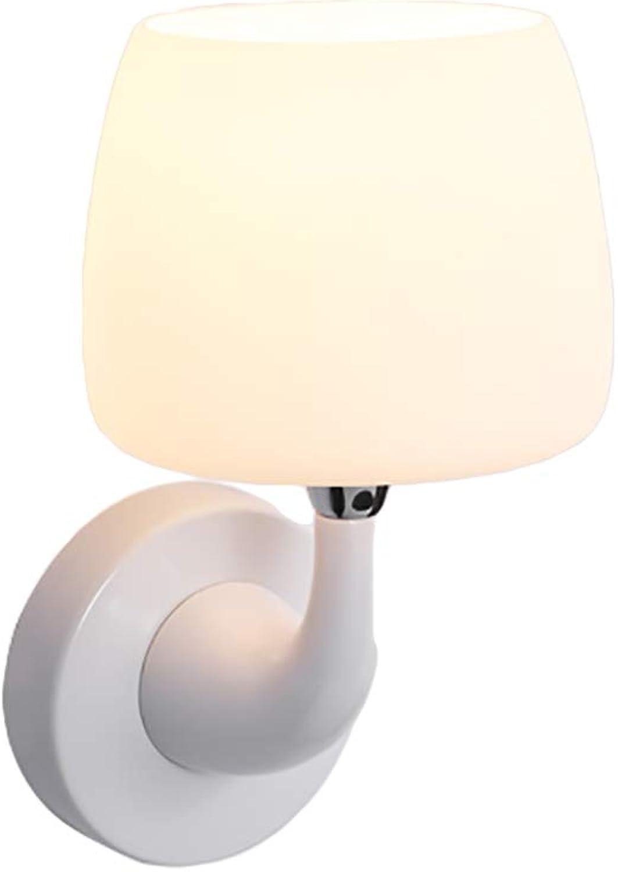 CANCUI Modernen Dekoration Wandleuchte, LED Wei Kreativ Gefrostet Glas Abdeckung Wandleuchte Kinderzimmer Flur Nachttischlampe E14-WeiA 28x13cm(11x5inch)