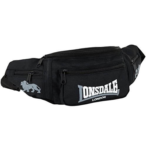 Lonsdale London Gürteltasche Bumbag Hip Bag schwarz grau - Einheitsgrösse