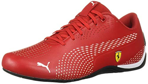 PUMA Ferrari Drift CAT 5 Ultra Sneaker, Rosso Corsa White, 10 M US
