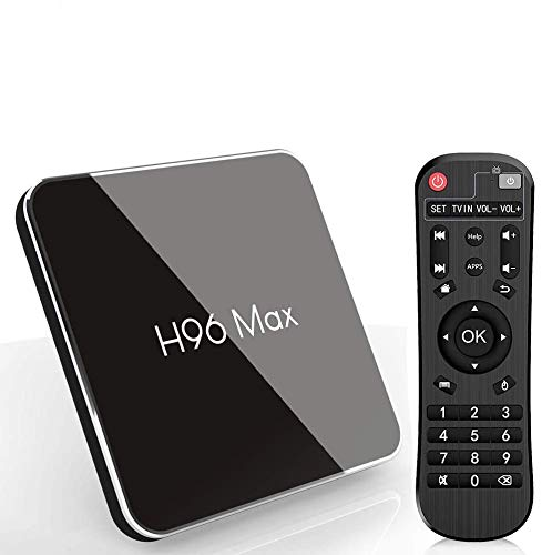 Android 8.1 Smart TV Box, H96 MAX X2  4GB RAM y 64GB ROM TV Box con Amlogic S905X2 Quad-Core, Soporte 2.4G/5.8G Dual WiFi  BT4.0  HDMI2.1  USB3.0