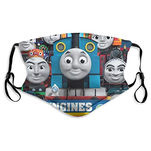 Hisportbon Face_Mask THO_mas and Train Kids Mask Clothes Reusable Fashion Mouth Cover with Filter Outdoor for Boys Girls Teens