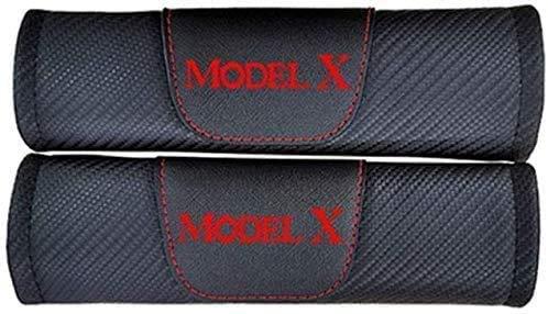 2 Piezas Almohadillas De La Cubierta del Hombro del CinturóN De Seguridad para Tesla Modelx Model X, Respirable Protectores De Hombro Cobertores Auto Accesorios