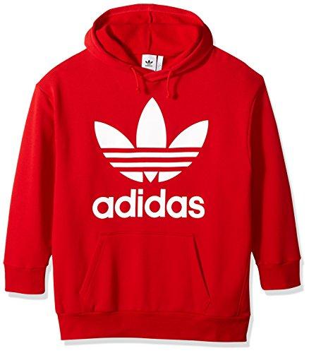 Adidas Herren Originals Trefoil Oversized Hoodie - Rot - XX-Small