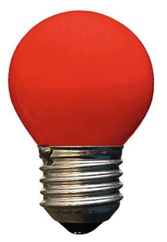 HEITRONIC Glühlampe Tropfenform, E27, 15W, rot, dimmbar für Lichterkette
