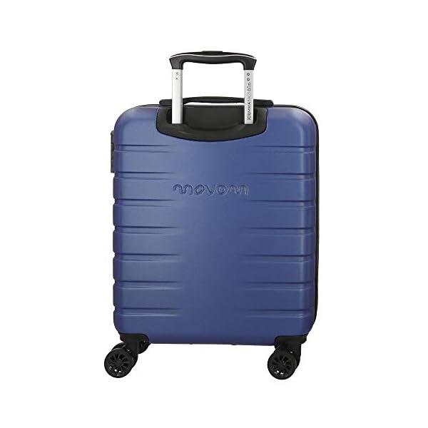 41nYGVmx9oL. SS600  - Movom Turbo Maleta de cabina Azul 40x55x20 cms Rígida ABS Cierre combinación 37L 2,7Kgs 4 Ruedas dobles Equipaje de Mano