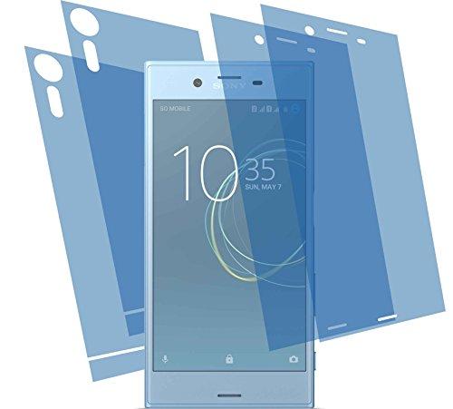 4ProTec I 4X GEHÄRTETE ANTIREFLEX matt 3D Touch Schutzfolie (2X vorne, 2X hinten) für Sony Xperia XZs Displayschutzfolie