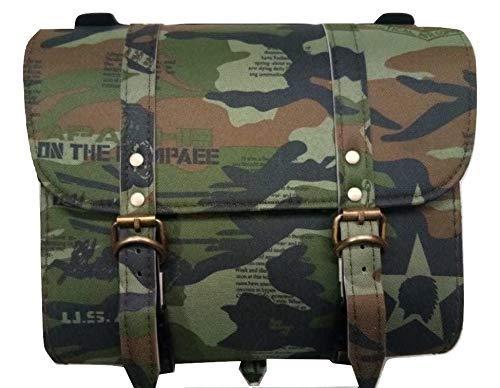 SaharaSeatsArmy Saddle Bag for Royal Enfield (All Models) & Bajaj Avenger (All Models) (Camouflage)