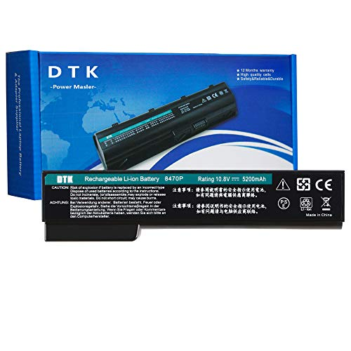 DTK CC06XL HSTNN-F08C QK642AA 628666-001 CC06 BB09 Laptop Akku Ersatz für HP EliteBook 8470P 8460p 8460w 8470w 8560p 8570p ProBook 6360b 6460b 6465b 6560b 6565b (10.8V 5200mAh)