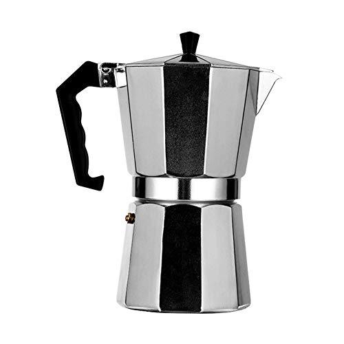 450ml Stovetop Espresso Maker, Moka Coffee Pot for Gas Stove, Aluminum Espresso Maker for Great Flavored Strong Espresso, Espresso Cup Moka Pot, Makes Delicious Coffee For Home Kitchen Office