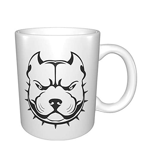 American Bully Logo Tazas Taza de café de cerámica Taza de té blanca regalo Gor Dad