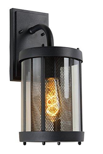 Lucide MAKKUM - wandlamp buiten - E27 - IP23 - zwart