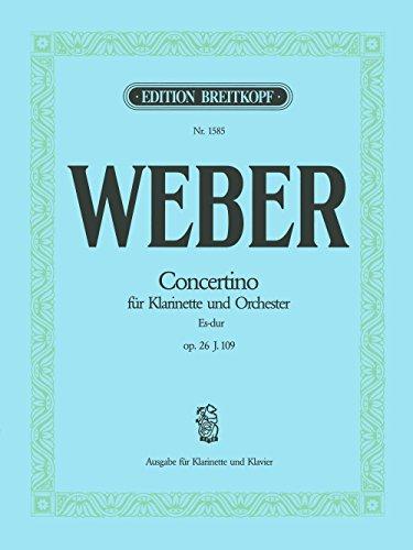 Concertino Es-dur op. 26 Breitkopf Urtext - Ausgabe für Klarinette [B] und Klavier (EB 1585)