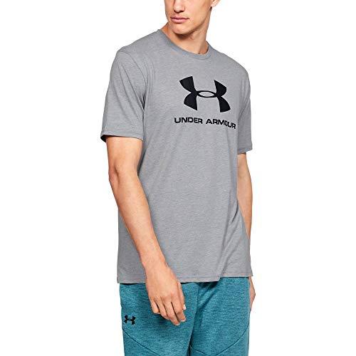 Under Armour Herren T-Shirt Sportstyle Kurzarm-Oberteil mit Logo, Grau, XL, OBER-77_1329590_036_XL