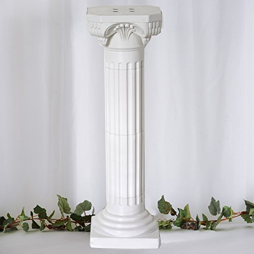 "Tableclothsfactory 4 Pillars/Set Roman Decorative Wedding Party Columns PVC Pillars 36"" Height (Adjustable)"