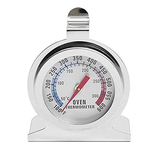 Rabbihom Termometro da Forno in Acciaio Inossidabile, Termometro da Carne, Utilizzato per Misurare la Temperatura di Cottura (50-300 ° C, Argento)