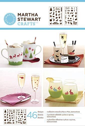 Martha Stewart Crafts Adhesive Stencils (5.75 by 7.75-Inch), 32304 46 Holiday Icons II Designs (92509)
