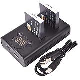DSTE NB-6L CB-2LY Batería Recargable (Paquete de 2) y Cargador USB Dual LED Inteligente compatibles con Canon Powershot SX510 HS, SX280 HS, SX500 IS, SX700, D20, S90, D30, ELPH 500, SX270, SX240
