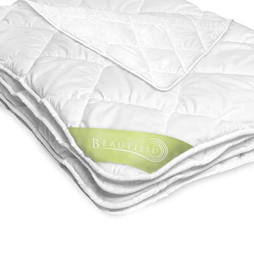 Beautissu ganzjahres Bettdecke 155x220 cm – Warme Microfaser Schlafdecke für Allergiker geeignet – Atmungsaktive Steppdecke für das ganze Jahr - BeaNuit MD
