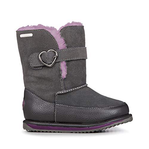 EMU Australia Mem Kids Wool Waterproof Boots Size 9 EMU Boots Charcoal