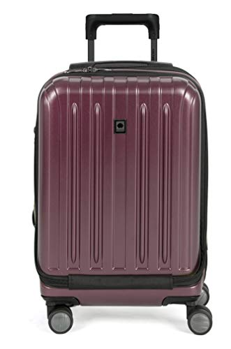 DELSEY Paris Titanium Hardside Expandable Luggage with Spinner Wheels, Purple, Carry-On 19 Inch