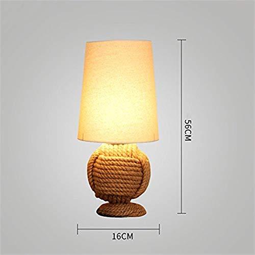 NA Gyy Home Hotel Lighting Tafellamp met retro touw chic, woonkamer met slaapkamer, werkkamer, bedlampje coffee shop bar bureaulamp decoratieve industrie Retro
